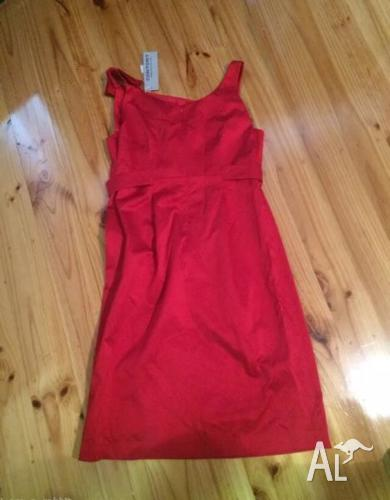 Red cocktail dress size 12. BNWT. RRP $195