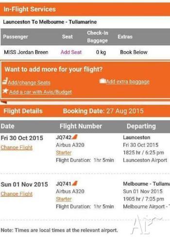 RETURN FLIGHTS TO MELBOURNE