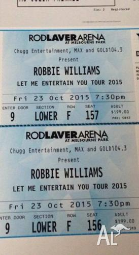 ROBBIE WILLIAMS PLATINUM SEATING TICKETS X2