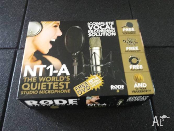 Rode NT1-A Studio Condenser Microphone (NT1A) + XLR