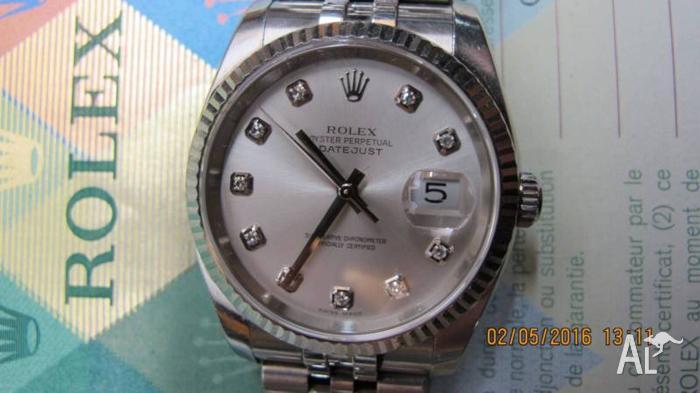 ROLEX DATEJUST 116234 STAINLESS STEEL 18K WG GOLD