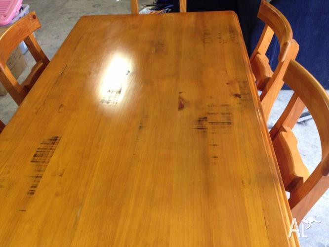 Rustic 7 Piece Dining Setting