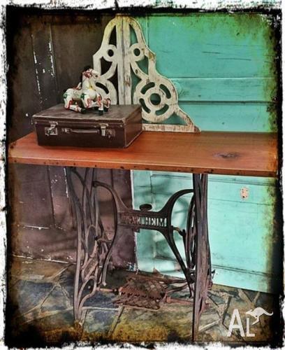 Rustic Treadle Table