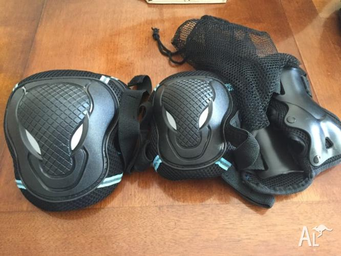 Safety padded 6 piece set for rollerbades