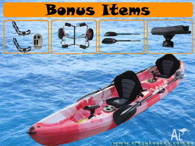 SALE !! SALE !! BRAND NEW 2 + 1 KAYAK CANOE FISHING