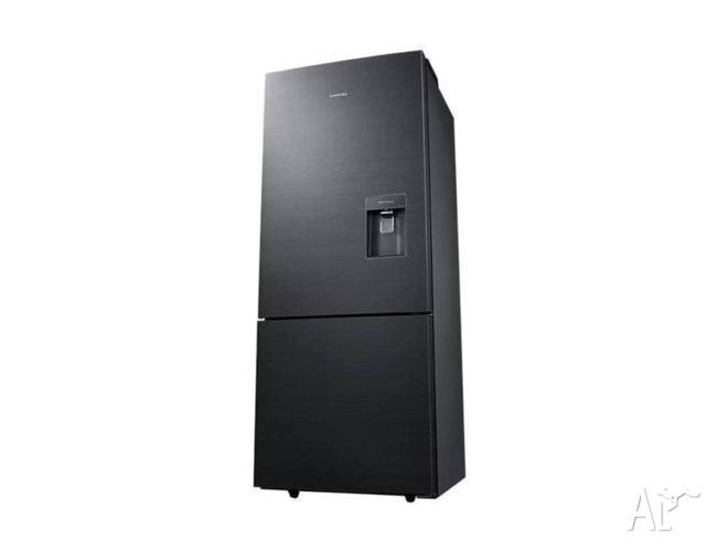 SAMSUNG BLACK 455L Bottom Mount Refrigerator-