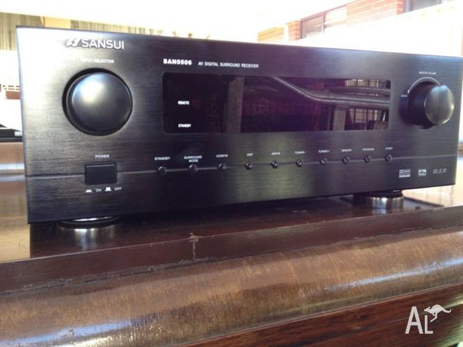 SANSUI SAN-0506 AV DIGITAL SURROUND RECEIVER
