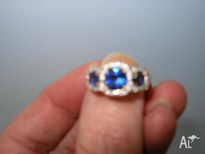 sapphire @ diamond ring