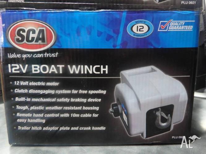 SCA 12V 900kg Boat Winch *Brand New*