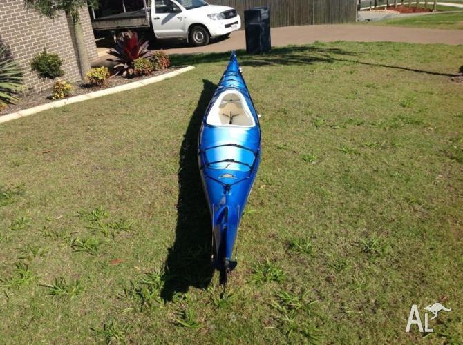 Sea Kayak with Sail, Skirt and Trolly.