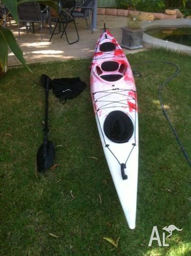 Sea Kayak with skirt & paddle