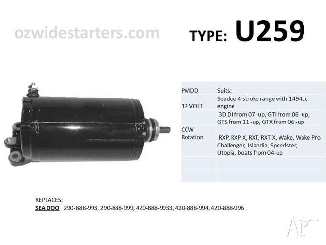 Seadoo starter motors for RXP, RXP X, RXT, RXT X, GTI, GTX