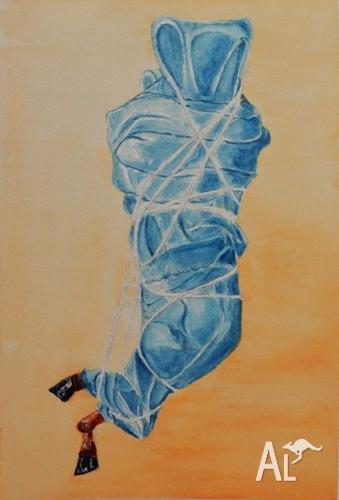 Secrets - Watercolour by Sergio Ianniello 36x25cm