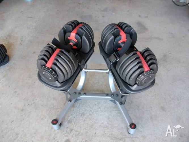 SelectTech 552 Adjustable Dumbbells w/Stand