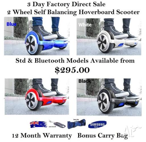 SELF BALANCING SCOOTER HOVERBOARD FROM $295 3 DAY SALE