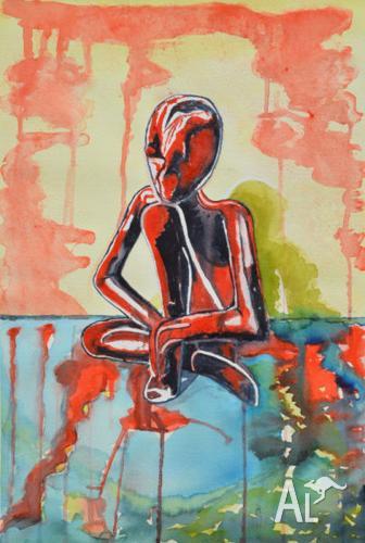 Shaman - Watercolour by Sergio Ianniello 54cm x 38cm