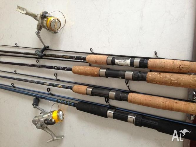 Shimano graphite spin fishing rods bream sedona sienna for Fishing rods and reels for sale