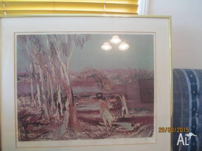 SIDNEY NOLAN...NED KELLY SERIES....SIGNED PRINT.