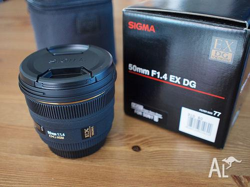 Sigma 50mm f/1.4 Lens - For Canon camera mount