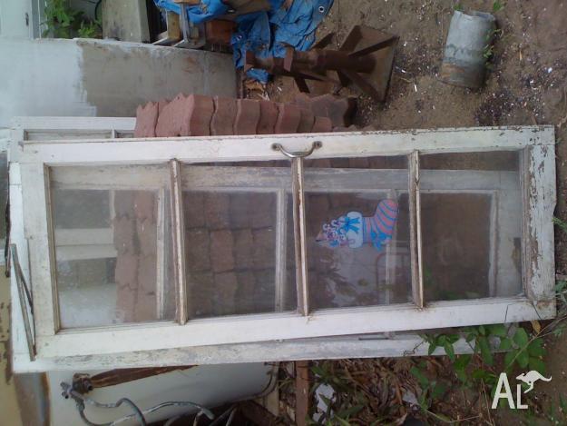 Silky Oak casement windows - 9 pairs