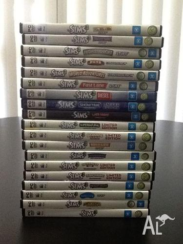 sims 3 expansions collection all have serial codes for sale in anketell western australia