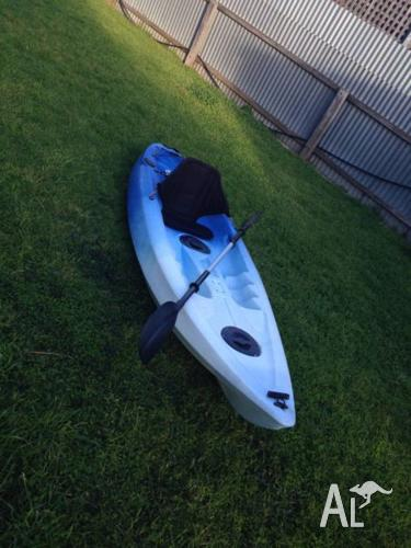Single sit on Fishing Kayak with Seat and Paddle.
