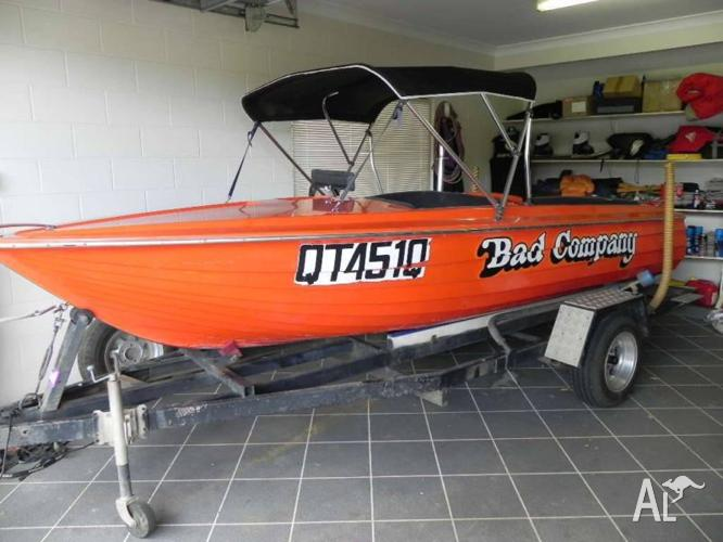 Ski boat has to go to make room for fishing boat