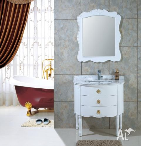 Traditional Bathroom Vanities Davina White Wooden Vanity for Sale