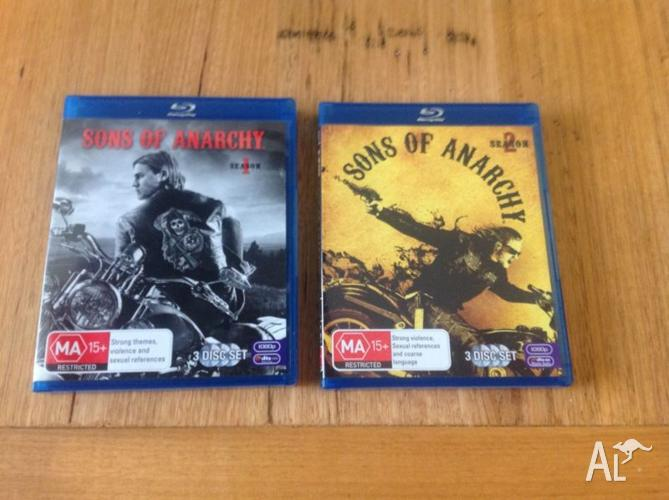 Sons of Anarchy Season 1 and 2 blu Ray as new