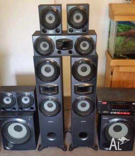 sony muteki 7 2 surround sound system for sale in boneo. Black Bedroom Furniture Sets. Home Design Ideas