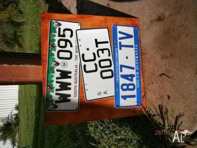 SOUTH AUSTRALIA NUMBER PLATE WALL PLAQUE - CUSTOM MADE
