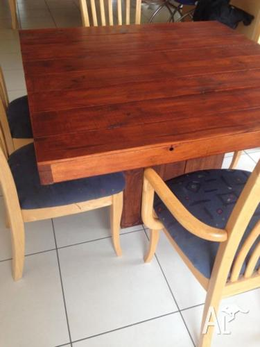 Square Rustic Dining Table 100cm x100cm x 76cm high