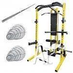 SQUAT RACK PACKAGE 80KG BAR AND WEIGHT PLATE
