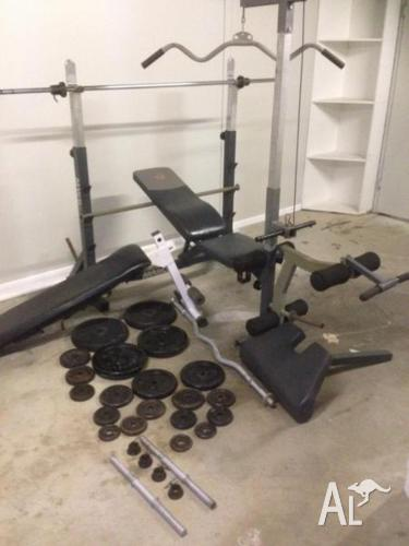 Squat rack/weight bench/situp bench