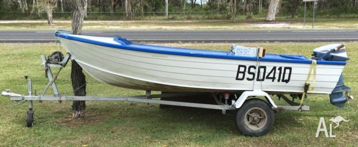 Stacer aluminium dinghy and trailer for sale