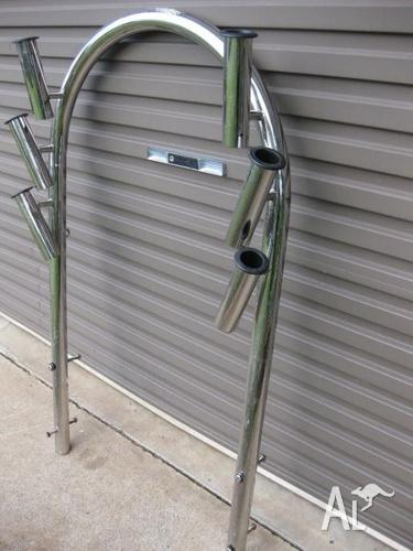 Stainless steel rod holder rack...suit boat
