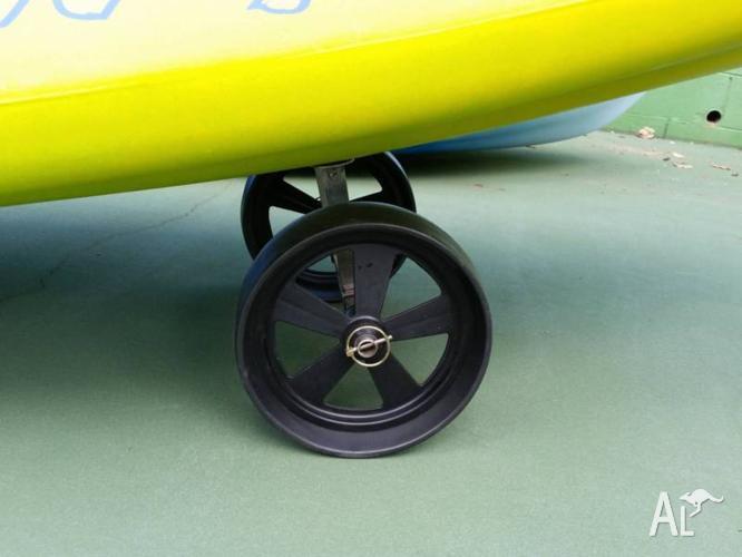 Stainless Steel Sit-on-top kayak Trolley Solid Wheels