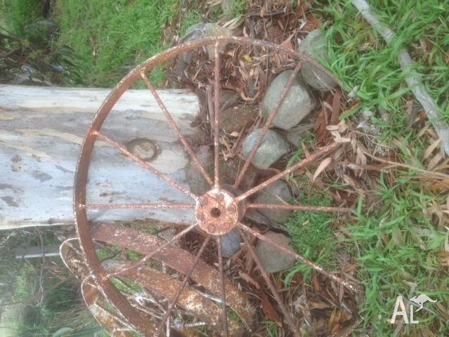 steel farm antique machine wheels