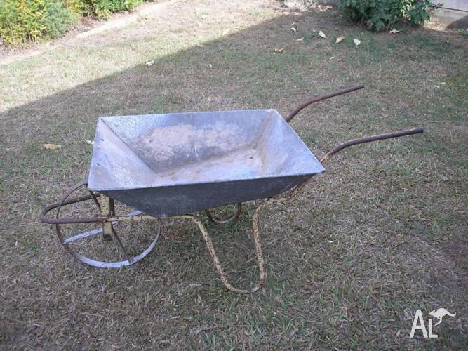 Steel Wheeled Vintage Wheelbarrow Great Plant Display