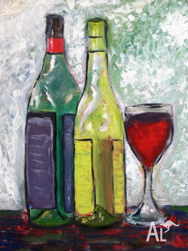 Still Life Acrylic Painting by Sergio Ianniello