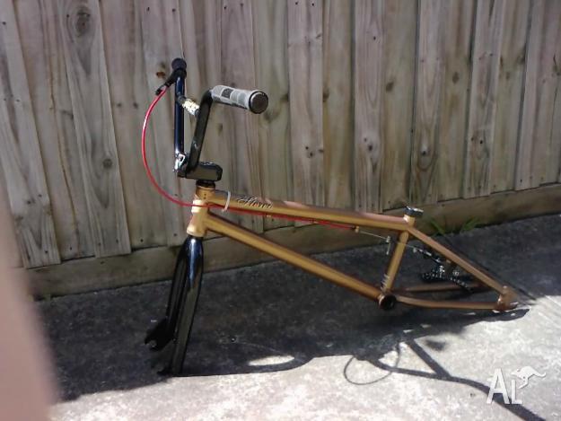 Stolen Bmx Bike Frame Forks Stem Bars Front Wheel Lite For Sale In