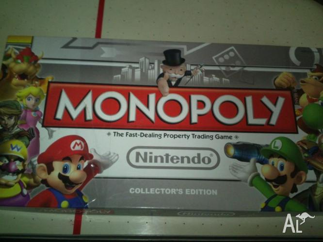 SUPER NINTENDO MONOPOLY!!!! WITH COLLECTIBLE TOKENS!!!!