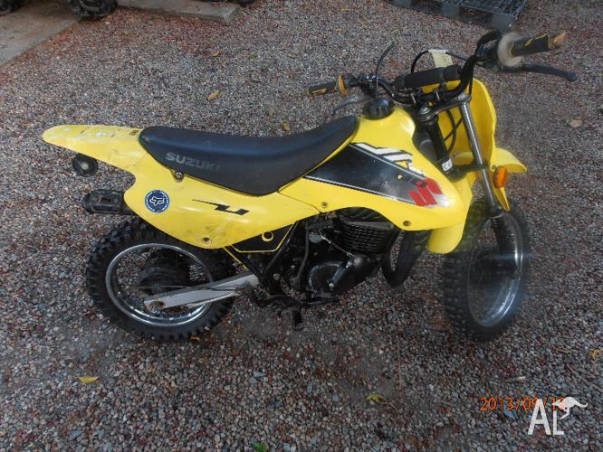 suzuki jr80 2002 2 stroke yellow dirt bike new tyres for