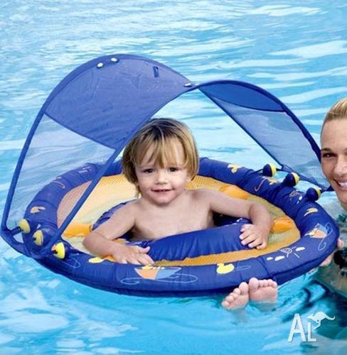 Swimways Baby Swim Float with sun canopy