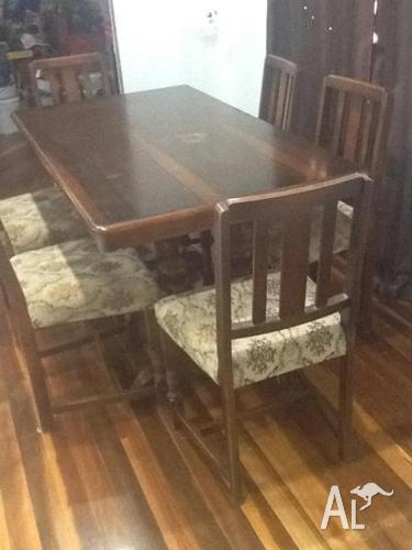 Table,chairs,sideboard,China cabnet 1950's