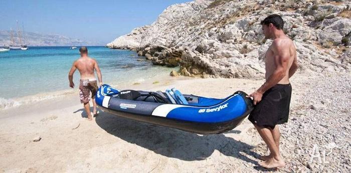 Tandem Inflatable Sevylor Colorado Kayak with paddles