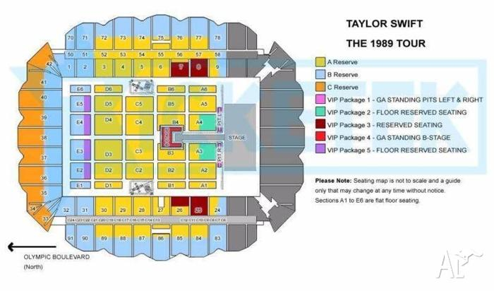 Taylor Swift Tickets Melbourne - VIP Package 1 BELOW