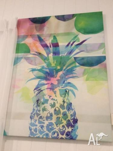 Temple and Webster Blue Pineapple Canvas Painting