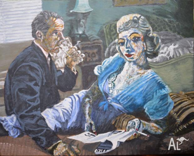 The Client - Acrylic on Canvas by Jane Ianniello