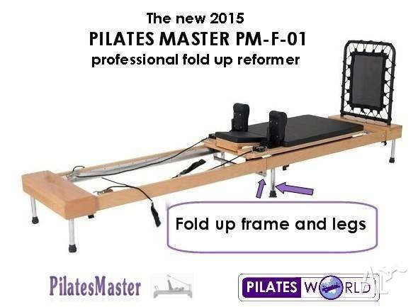 The New 2015 PILATES MASTER PM-F-01 FOLD UP REFORMER on